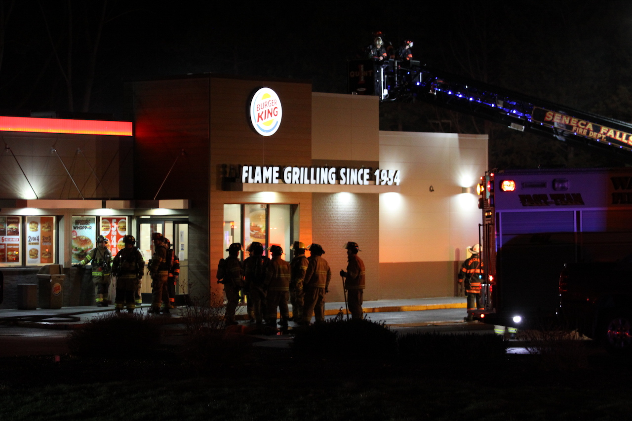 Fire reported at Burger King in Seneca Falls (photos)