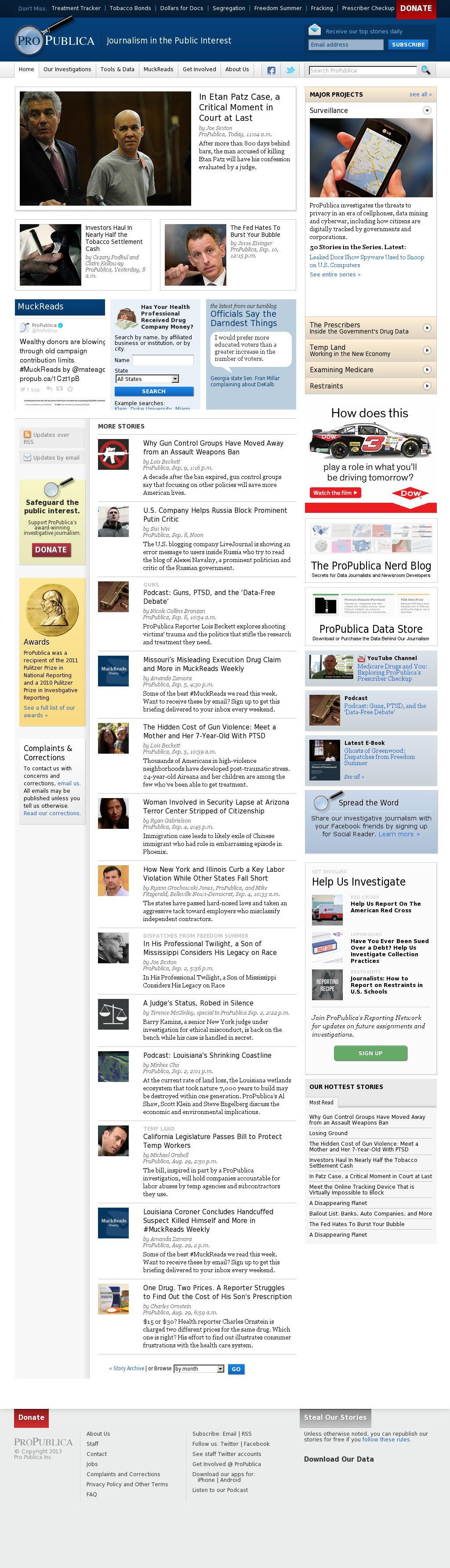 ProPublica at Friday Sept. 12, 2014, 8:15 p.m. UTC
