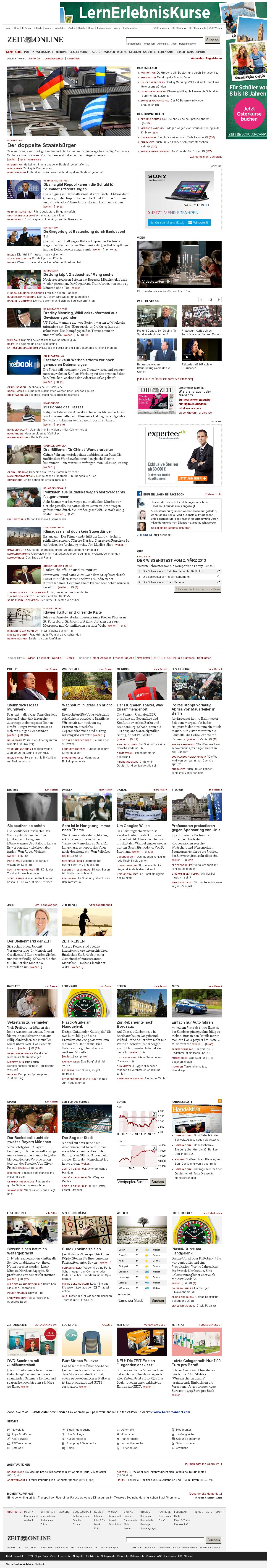 Zeit Online at Saturday March 2, 2013, 4:24 a.m. UTC
