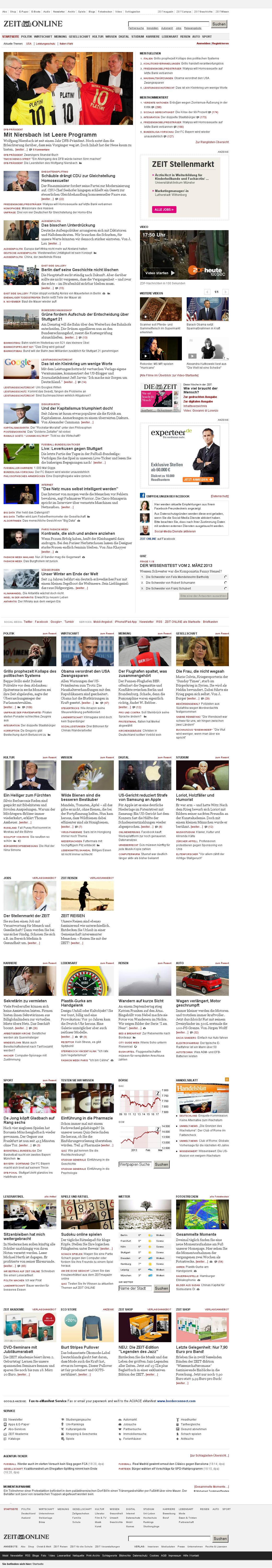 Zeit Online at Saturday March 2, 2013, 5:24 p.m. UTC