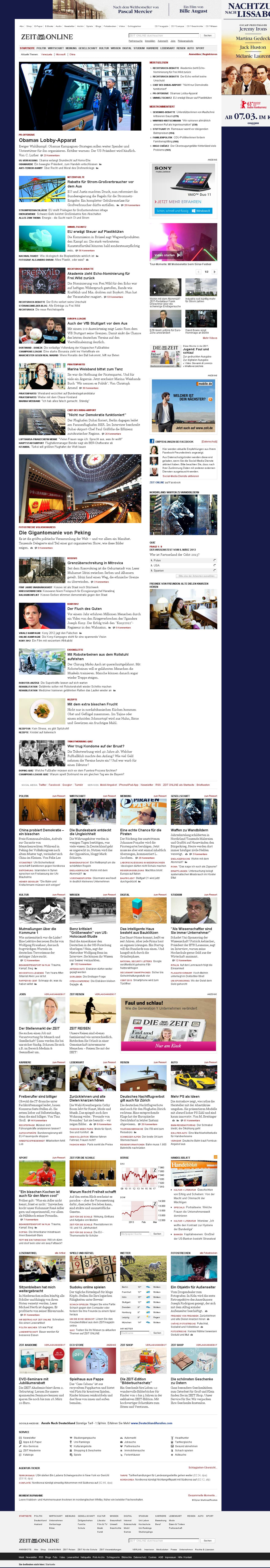 Zeit Online at Friday March 8, 2013, 2:25 a.m. UTC