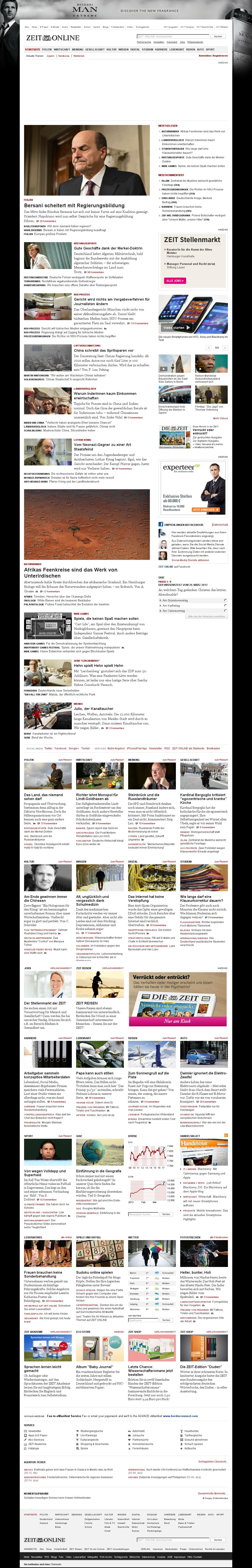 Zeit Online at Friday March 29, 2013, 5:27 a.m. UTC